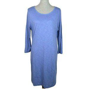 British Khak Blue 3/4 Sleeve T shirt Dress Lined